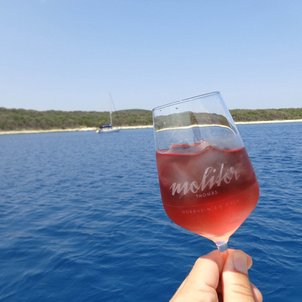 Weingut Thomas Molitor Nordheim am Main Weinglas Urlaub Meer