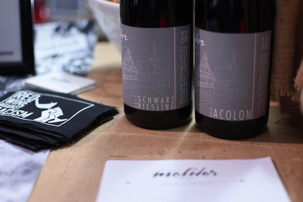 Weingut Thomas Molitor Nordheim am Main Weinprobe Visitenkarte Schwarzriesling Acolon
